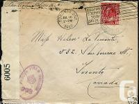 Military WW1 CEF 1917 Soldier's Mail to Toronto Canada.