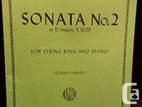 For sale is a copy of the Gamba Sonata No.2 By J.S.