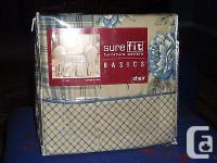 NEW~ two SUREFIT LEXINGTON CHAIR SLIPCOVER ~ BLUE ONE