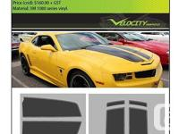 Quality 3M Vinyl Racing Stripes for a 2010 Camaro. May