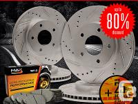 � four Slotted & Drilled Brake Rotors (Front & Rear)�