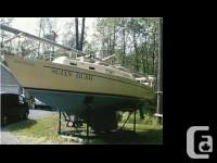 1971 Hughes 29 Sloop. Features include., two sets of