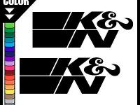 K&N VINYL DECALS - two pcs. Dimension purchased