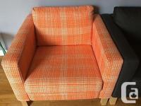 Ikea Karlstad Cover Armchair Slipcover Husie Orange