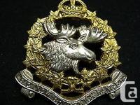 Very nice New Brunswick Rangers WW II era cap badge. It
