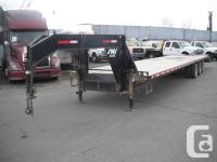 2014 ABU 44 feet Gooseneck Equipment Tri-Axle Flat Deck