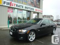 2007 BMW 328I COUPE. LOCAL CAR. ONLY 65000kmS. BLACK ON