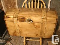 CURVED TOP HANDMADE CHEST. 30X16X16 INCHES HIGH.THESE