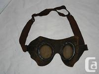 100% authentic Leather Aviator Goggles. Have not been