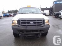 2002 Ford F-350 SD XL SuperCab four wheel-drive. with