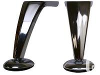 "5-1/4"" Metal Leg Polished Metal Finish Sofa Leg Chair"