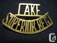 Single Lake Superior Regiment WW II era shoulder title.