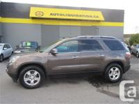 2008 GMC ACADIA SLT ...THIS LOCAL BC UNIT IS EQUIPPED