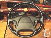 Ford Probe GT Black Leather Wrap Steering Wheel with