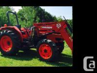 1998 Kubota M5400 Tractor. Manual transmission eight