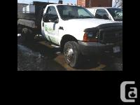 2000 Ford F450 Dump Truck 2001 F450 dump truck White
