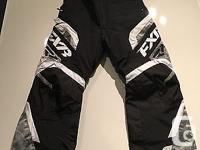 FXR Team FX Snowmobile Pant / Bib Black & White & Grey
