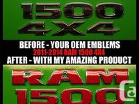 "I AM SELLING �R A M 1 5 0 0� DECALS AND ""4 x 4"" DECALS"