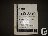 1989 Yamaha YZ250(W) - Factory Service Manual Part