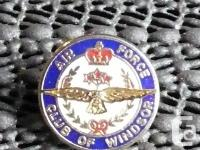 """Air Force Club of Windsor Pin Size approximately. 5/8"""""""