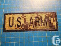 you are bidding on a Brand New US ARMY patch