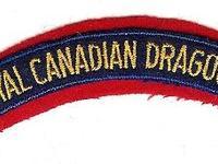 A Royal Canadian Dragoons battle dress shoulder flash.