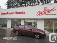 Openroad Honda service demo. 2015 Civic EX sedan. Only