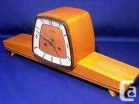 RARE ART DECO ZENTRA CHIMING MANTEL CLOCK 50´S 18 L X