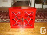 For sale is a gently used Small Red Wooden Display