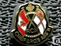 Royal Canadian Navy RCN Chief & PO's Ass'n Pin Size