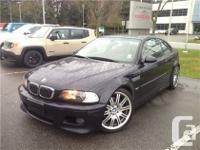 2004. BMW. M3. Coupe. Carbon Black. SMG Auto WOW! This