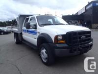 2006 Ford F-550 XL SD Dually Diesel with nine by 8 Dump