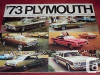 1973 Plymouth Catalog PFL-73-E + Barracuda & Valiant /