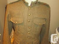 This is a very nice repro Canadian WW1 wool uniform