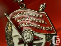 Original Russian Soviet Order of the Red Banner -