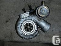 Garrett GT17 removed from a SAAB 9-5 for an upgrade to