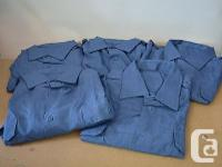 Lot of five Canadian military blue shirts. Long sleeved for sale  Quebec