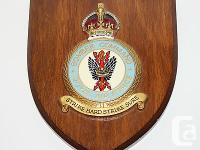 Royal Air Force Bomber command wall plaque photos are