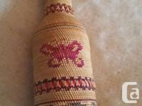1st Nations Nuu Chah Nulth (Nootka) Basket Weave Bottle