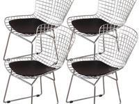 Bertoia Wire Side Chairs by Harry Bertoia was a true