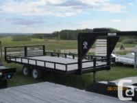 Four place ATV trailer Gooseneck 16' x 8' 3500# Tandem