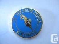A terrific looking Lapel Pin. THE NEW NATIVE PEOPLE