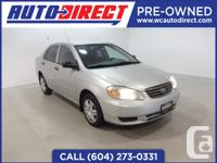 This highly sought after compact Toyota Corolla is a