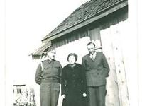 Canadian Soldier and his Parents, WW2. Original photo
