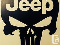 """Punisher / Jeep 6"""" Vinyl Decal Sticker Buy two Get"""