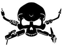 "Skull Welder 6"" Star Vinyl Decal Sticker Buy two Get"