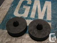 This is for a pair (2) of NOS door glass bumpers. These
