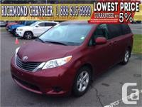 2014. Toyota. Sienna. LE. Bluetooth. Backup Camera Wow!