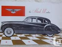This is an original 1951-54 Jaguar sales brochure