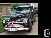 Original looking 46 Ford Super Deluxe Coupe with late